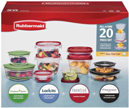 rubbermaid review image  sc 1 st  San Diego Professional Organizer & Plastic Food Storage Container Lid Battle - Professional Organizer ...