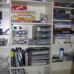 scrapbook shelf