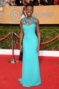 Lupita Nyongo in teal