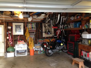 bike in garage