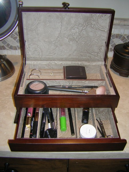 makeup storage within