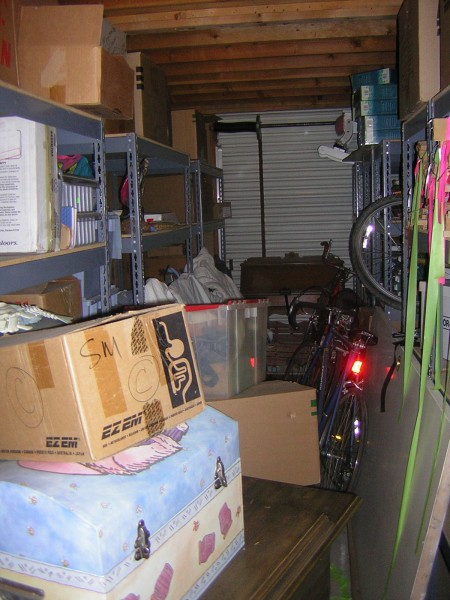 storage before