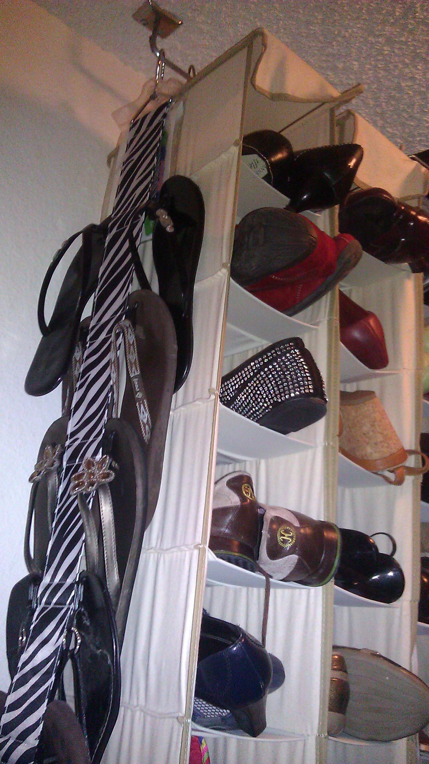 Shoe Storage Goes Vertical