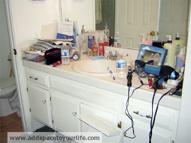 Keep bathroom countertops clean and organized - How to professionally clean a bathroom ...