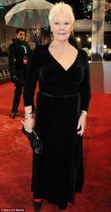 Judi Dench in Black Dress