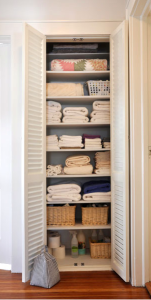Organizing Your Linen Closet and Downsizing Your Sheet Collection